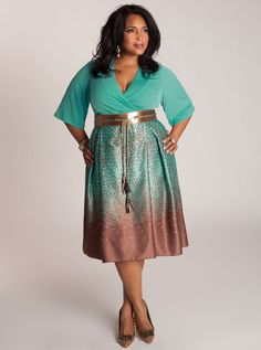 Julianna Plus Size Dress ... would love this if the bottom and belt weren't shiny. Otherwise it's prettiful.
