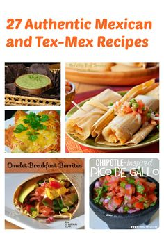 This collection of 27 delicious authentic Mexican and Tex-Mex foods will keep you busy awhile while you try them all!