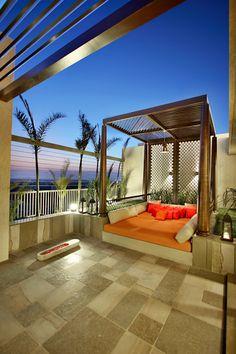 Rooftop Terrace Design, Terrace Garden Design, Terrace Floor, Deck Design, House Design, Pergola Designs, Outdoor Rooms, Outdoor Living, Outdoor Decor