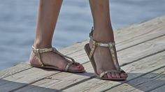 Sundown Posing in Golden Sandals by Feetatjoes on deviantART