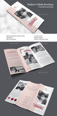 Buy Clean Trifold Brochure Vol. 1 by on GraphicRiver. Clean Trifold Brochure Vol. 1 Trifold brochure for any business made in Indesign. Brochure Indesign, Template Brochure, Brochure Format, Brochure Layout, 3 Fold Brochure, Graphic Design Brochure, Corporate Brochure Design, Creative Brochure Design, Business Brochure