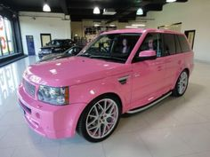 Want this!!!  Pink Range Rover!!!
