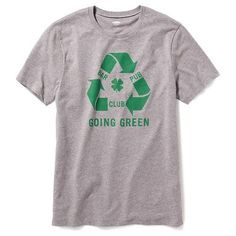 Old Navy St. Patricks Day Graphic Tee ($15) ❤ liked on Polyvore featuring men's fashion, men's clothing, men's shirts, men's t-shirts and grey