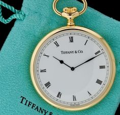 Vintage Tiffany & Co. Pocket Watch!! Swiss made, 18Kt Yellow Gold. This would made such a great gift.