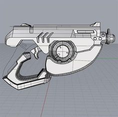 3D designer Simone Fontana has released the files for a 3D printed replica of Tracer's gun from the upcoming Blizzard game Overwatch. Cosplay Tutorial, Cosplay Diy, Cosplay Ideas, Tracer Cosplay, Agency Arms, Teen Titans Starfire, American Flag Photos, Glock Models, Custom Glock