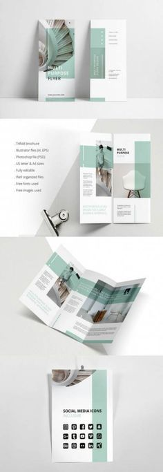 Design a stunning brochure in minutes. Get Brochure Design Services here. Showcase your business, products, and services when you create custom brochures. Brochure Indesign, Template Brochure, Brochure Layout, Brochure Trifold, Brochures, Brochure Ideas, Indesign Templates, Product Brochure, Product Poster