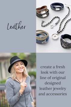 create a fresh look with our line of original design leather jewelry and accessories Purple Accessories, Leather Accessories, Leather Jewelry, Yellow Jewelry, Pink Jewelry, Jewelry Sets, Professional Outfits, Fall Outfits, Fashion Inspiration