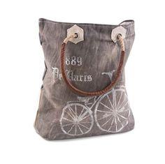 Paris Streeter - Reclaimed Canvas Tote Bag