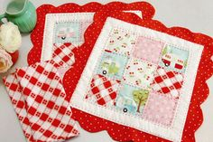 Placemats ~ Patchwork by Beverly from Flamingo Toes