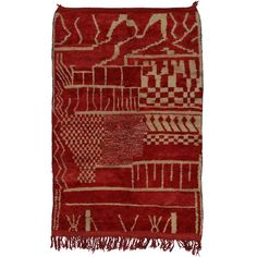 Berber Moroccan Rug with Mid-Century Modern Style | From a unique collection of…