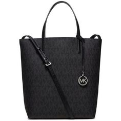 Michael Michael Kors Hayley Large Convertible Tote ($198) ❤ liked on Polyvore featuring bags, handbags, tote bags, convertible tote bag, travel handbags, travel tote bags, michael michael kors tote and michael michael kors