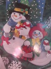 Bucilla Christmas Stocking Kit 83386 Felt Applique Mr & Mrs F. Snowman Frosty for sale online Christmas Stocking Kits, Felt Christmas Stockings, Christmas Ornaments, Felt Applique, Mr Mrs, Nativity, Snowman, Santa, Holiday Decor