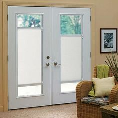 French Door Blinds French Doors Exterior Doors Entry Doors Door Coverings Window Ideas Door Ideas Door Curtains House Windows : door shades - Pezcame.Com