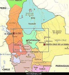nice Map of Cochabamba