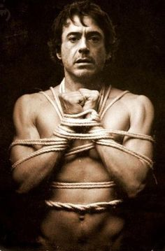 Robert Downey Jr, ladies? Just make sure you have practised your ropework or Shibari a few times before tying up your iron man.