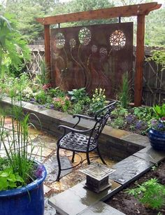 75 Easy Cheap Backyard Privacy Fence Design Ideas - Bailee News Diy Privacy Fence, Privacy Fence Designs, Privacy Walls, Backyard Privacy, Backyard Fences, Backyard Landscaping, Privacy Screens, Landscaping Ideas, Diy Fence