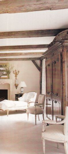 Country French Decorating with Antiques ~ Lovely look
