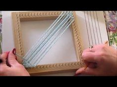 Weaving your first square with a Pin Loom. Start creating beautiful projects with your pin loom. In this tutorial I cover everything you will need to know to make your first square. Loom Knitting Projects, Loom Knitting Patterns, Weaving Projects, Pin Weaving, Loom Weaving, Potholder Loom, Fun Loom, Plastic Canvas Stitches, Loom Craft
