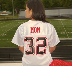 #FootballMom t-shirt design; wear your player's numbers: Names&Numbers More ideas at easyprints.com #sportsapparel