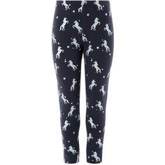 Monsoon Unicorn Foil Legging ($16) ❤ liked on Polyvore featuring pants, leggings, unicorn pants, star print leggings, unicorn leggings, shimmer leggings and metallic trousers