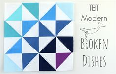 Riley Blake Designs Blog: TBT Modern: Broken Dishes #iloverileyblake #tbt #tbtmodern #modernquilting #brokendishes