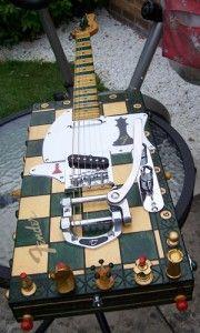 Chess board guitar