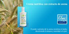 Nuestra Crema Nutritiva protege y revitaliza tu piel. Uno de sus ingredientes es la avena, su poder nutriente revitaliza el tejido, devolviendo la tersura y suavidad a la piel.   La avena es un bioactivo rico en vitaminas nutritivas, que se utiliza en el mundo de la cosmética desde tiempos remotos por sus probadas propiedades.