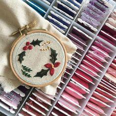 _ 휴대용 미니 핀쿠션!  _ #썬데이자수 #부산프랑스자수 #양산프랑스자수 #embroidery #handembroidery #프랑스자수