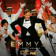 In lights: #ConanOBrien at the 58th Emmys, 2006  Watch the 67th #Emmys – Sunday, Sept 20, 8pm ET/5 PT on @foxtv.  #cinemagraph @teamcoco #conan #teamcoco