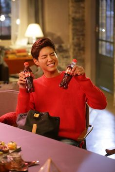 """park bogum for coca cola ✧ tv cf (behind the scenes)""860 x 1290"" """