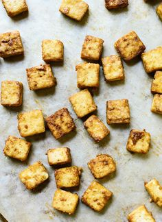 This crispy baked tofu is so easy to make! Add this crispy tofu to any recipe that could use some extra protein. cookieandkate.com