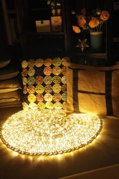 She Crochets Over A Strand Of LED Lights. Seems Odd, But By The End? The Result Is Too Cool! - DIY Craft Projects