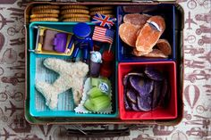 Bento Babies - Airport Bento Box. Love this idea for the girls. Check tsa site to see what's allowed.