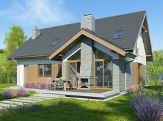 Projekt domu FA Telimena II - DOM GC6-44 - gotowy projekt domu Home Fashion, Country Living, Rustic Decor, Gazebo, Shed, Exterior, Outdoor Structures, House Styles, Building