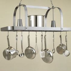 FREE SHIPPING! Shop Wayfair for Hi-Lite Baker Large Rectangular Pot Rack with 2 Lights - Great Deals on all Furniture products with the best selection to choose from!