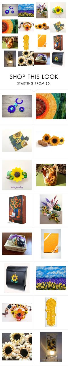 Etsy Sunflowers by kateduvall on Polyvore featuring beauty, bedroom, kitchen, bathroom, vintage and country