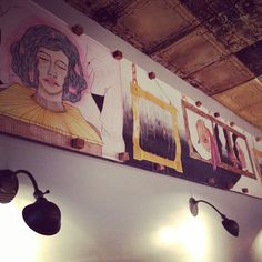 Art by Haydee Naula hangs at TQK.