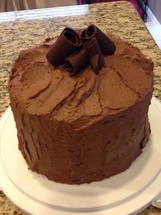 The Pioneer Woman Big Chocolate Birthday Cake  http://www.foodnetwork.com/recipes/ree-drummond/big-chocolate-birthday-cake-recipe.html#!