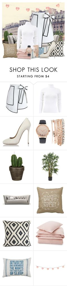 """""""A lot of white...  Parisian maybe?"""" by hannah-amara on Polyvore featuring Chicwish, Michael Kors, Dsquared2, Jessica Carlyle, John Lewis and Lexington"""