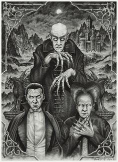 """johnny-dynamo:  """"Vintage Vampires by Derek Castro  """""""