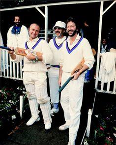 Phil Collins, Ringo Starr & Eric Clapton Bunburry Cricket Club, Carlton, UK - 1987