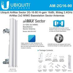 Altelix 2.4 GHz 17 dBi 90 Degree Dual Pol 2x MIMO WiFi Sector Sectorial Antenna