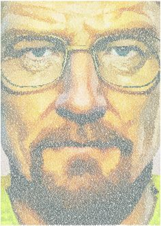Walter White. A typographic portrait of Walter White created from the  Walter White. A typographic portrait of Walter White created from the Gallery quality print on thick 45cm / 32cm metal plate. Each Displate print verified by the Production Master. Signature and hologram added to the back of each plate for added authenticity & collectors value. Magnetic mounting system included.  EUR 50.00  Meer informatie