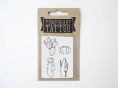 Cactus Temporary Tattoo 4 minis.   (more information more cactus)