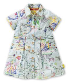 Another great find on #zulily! Blue Island Button-Up Dress - Infant, Toddler & Girls by Oilily #zulilyfinds