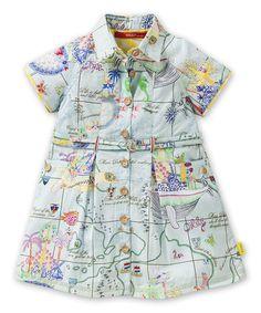 Loving this Blue Island Button-Up Dress - Infant, Toddler & Girls on #zulily! #zulilyfinds