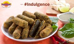 Indulge in Spicy Spinach Rolls filled with Cheese, Spinach & Potato #Indulgence #NanakFoods #Foodie