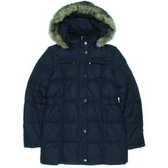GENERATION NXT WEAR. Blue Quilted Puffer Coat Outerwear. Taille M $295. REF 5066/M