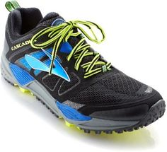 0a339535a414e Brooks Men s Cascadia 11 Trail-Running Shoes Black Moroccan Blue 9 Black Running  Shoes