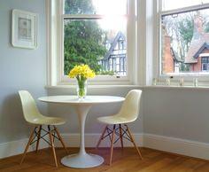 Saarinen tulip table & Eames DSR (Eiffel) chairs